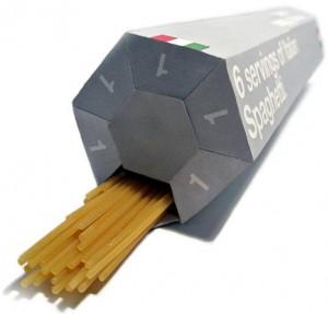 Embalagem conceito separa macarrão em porções individuais para evitar desperdício