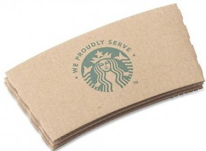 Novo protetor de copo da Starbucks