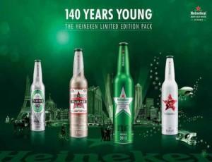 Heineken celebra 140 anos com embalagens de alumínio temáticas
