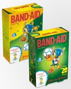 Johnson & Johnson lança curativos Band-Aid com design da Copa do Mundo 2014