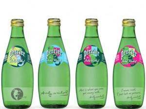 Água Perrier da Nestlé ganha embalagem de Andy Warhol