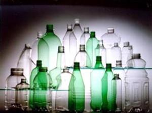 A garrafa de PET 100% reciclada