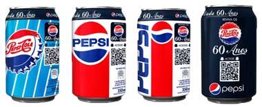 Pepsi celebra 60 anos de Brasil com novas latas
