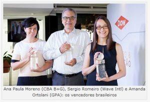 """Quatro inovações brasileiras entre as vencedoras mundiais do """"Prêmio para Inovação em Embalagens da Dow"""""""