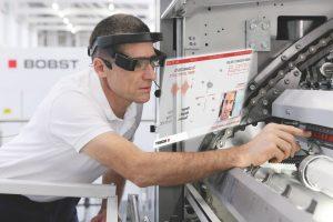 Realidade aumentada inova o atendimento da assistência Técnica da BOBST