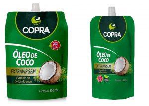 Óleo de coco em stand-up pouch