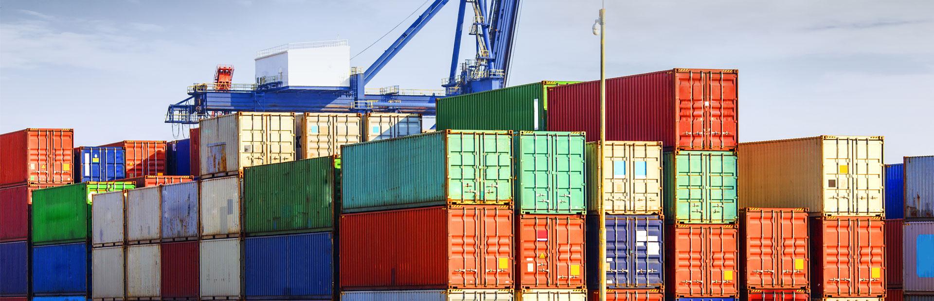 Embalagens de produtos para exportação